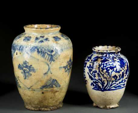 Two Islamic Glazed Jars