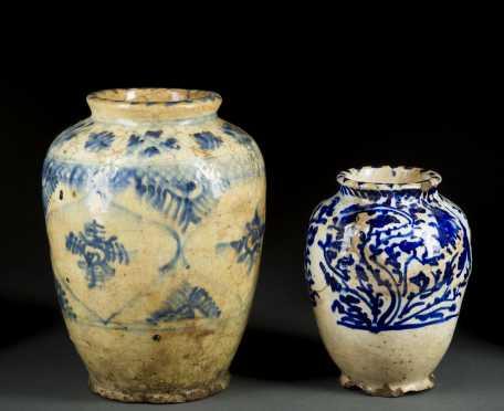 Two Islamic Glazed Jars