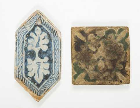 Two French Pottery Tiles