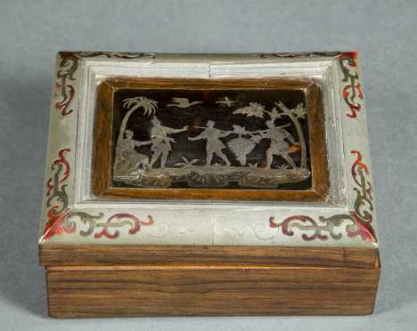 Continental Silver and Pewter Box