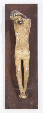 Carved and Painted Christ Figure
