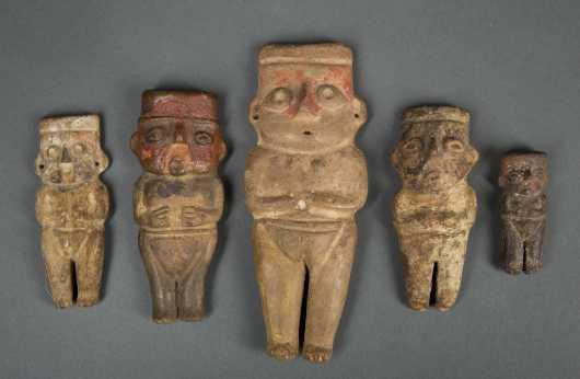 Group of Five Peruvian Miniature Figures