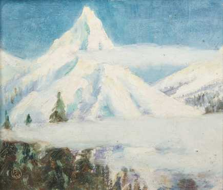 Boyd Waters (1879-1967), Mountain Scene