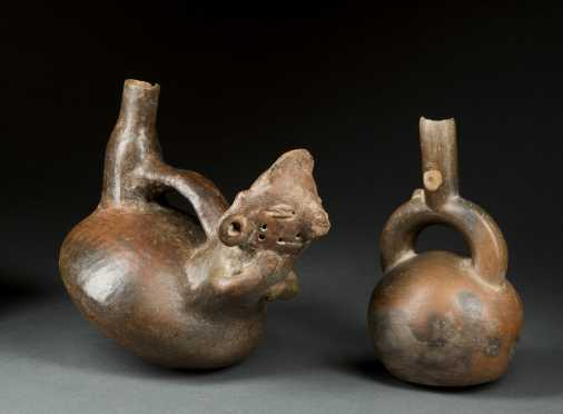 Two Pre-Columbian Stirrup Vessels