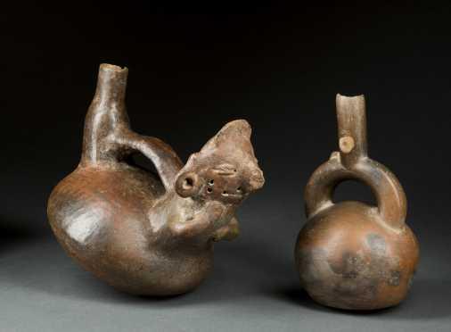 Two Pre-Columbian Stirrup Vessels