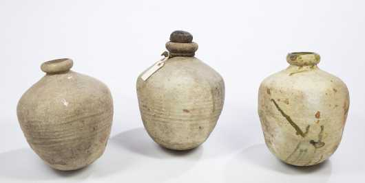 Three Roman Era Ovoid Pots