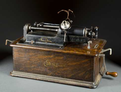Edison Phonograph Cylinder Record Player
