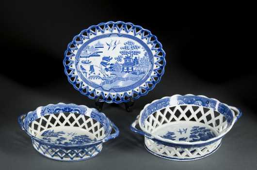English Blue Willow Soft Paste Porcelain