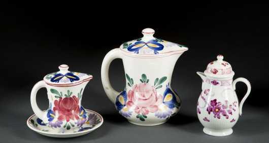 Porcelain Covered Syrup Pot