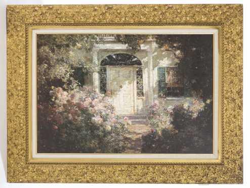 19thC, Gold Gilt Floral Frame