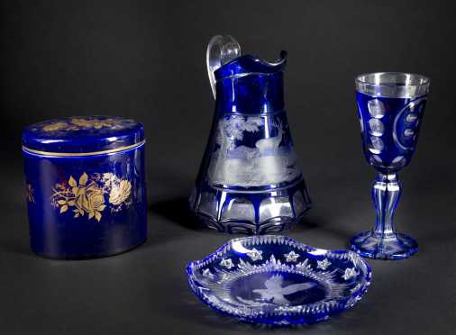 Bohemian Cut Glass Lot