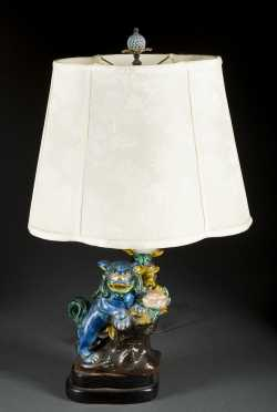 Chinese Style Foo Dog Lamp
