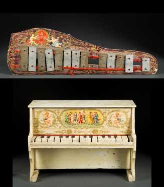 "Two ""Shoenhut"" Child Sized Musical Instruments"