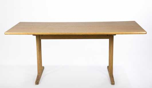 Danish Modern Trestle Table