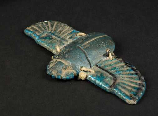 Egyptian Blue Faience Scarab