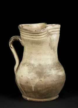 Ancient Roman Glazed Terracotta Pitcher, Lagoena