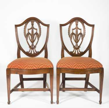Pair of Mahogany Hepplewhite Side Chairs