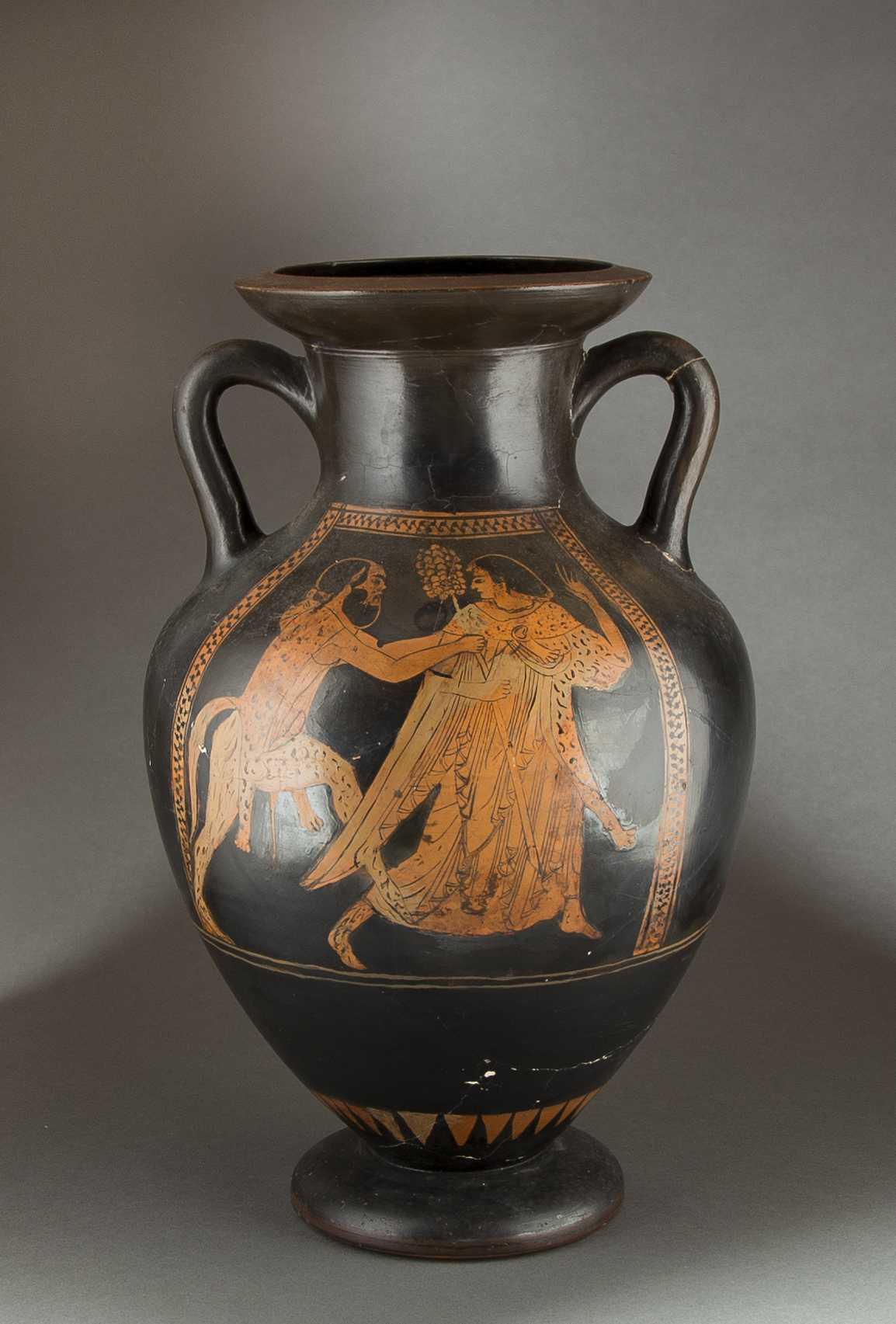 Ancient Greek Red Figure Amphora Vase