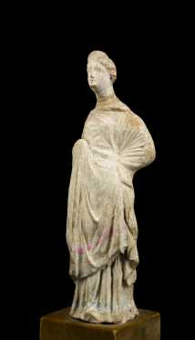 Hellenistic Terracotta Figure of a Woman