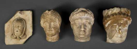 Four Roman Period Stone Heads