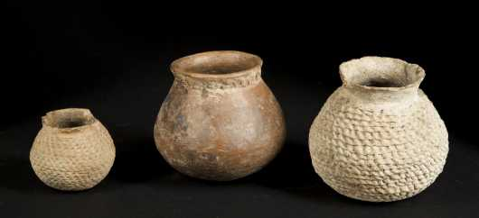 Three Anasazi Pottery Bowls