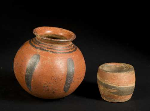 Two Native American Pottery Pots