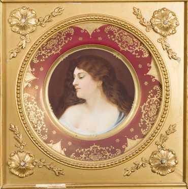 Vienna Austrian Portrait Plate