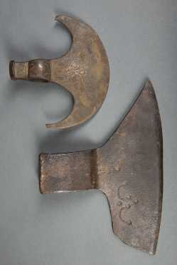 Two Wrought Iron Axe Heads