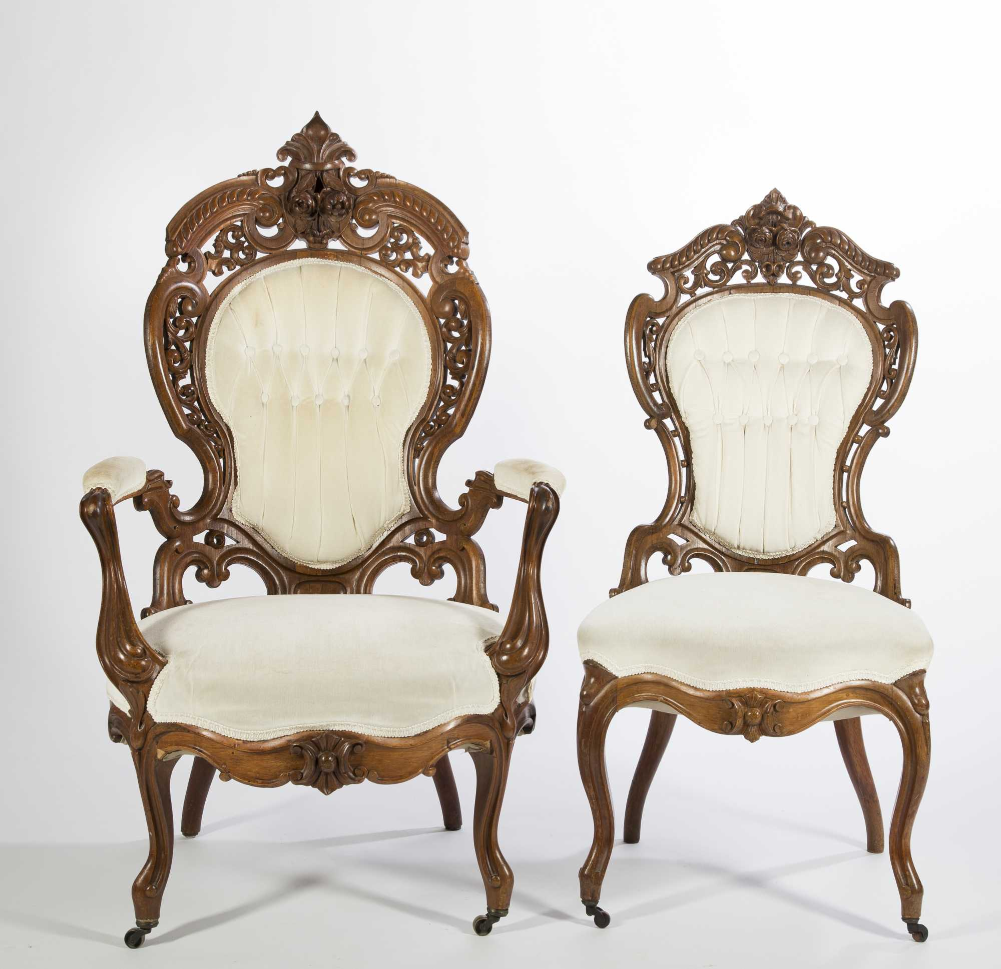 Victorian style furniture chair - John Henry Belter Victorian Chairs