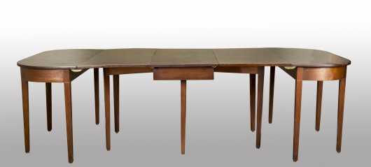 English Hepplewhite Banquet Table