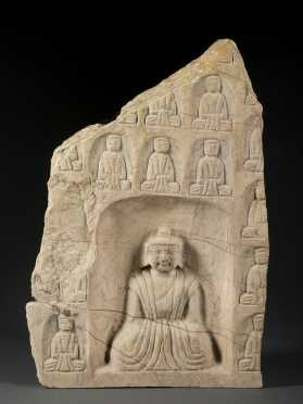 Architectural Stone Buddha Fragment