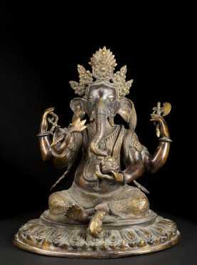 "Bronze ""Ganeslia"" Hindu Elephant God"