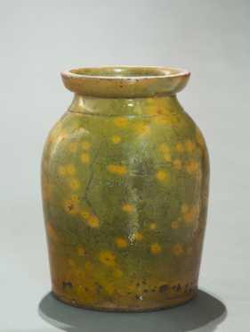 New Hampshire Gonic Redware Jar
