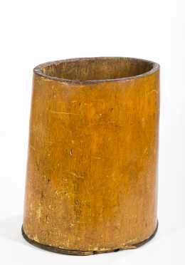 Large Tree Trunk Mortar/Barrel