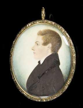 Miniature Profile Portrait of a Young Man