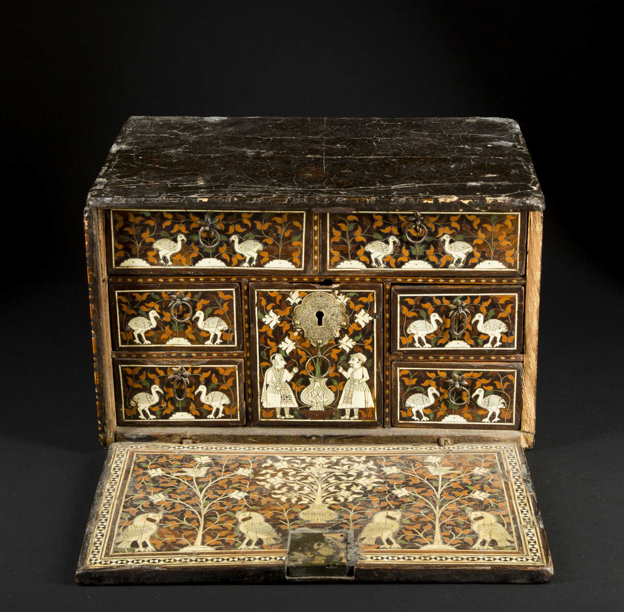 17thc Indo Portuguese Table Cabinet Desk