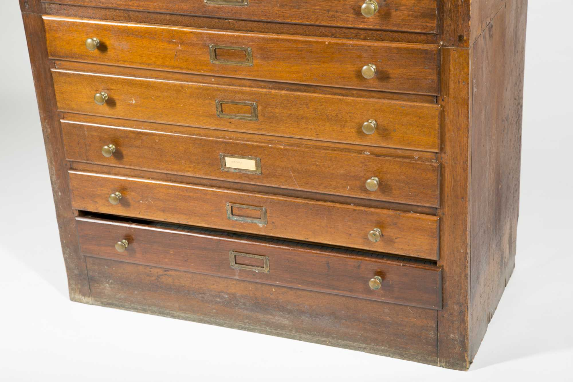 12 Drawer Chest ~ Walnut tall chest of drawers