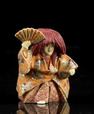 "Antique Netsuke.  ""Isshu"""