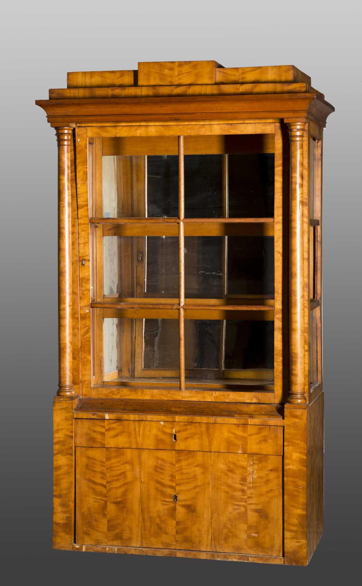 Biedermeier vitrine cabinet for Sideboard vitrine