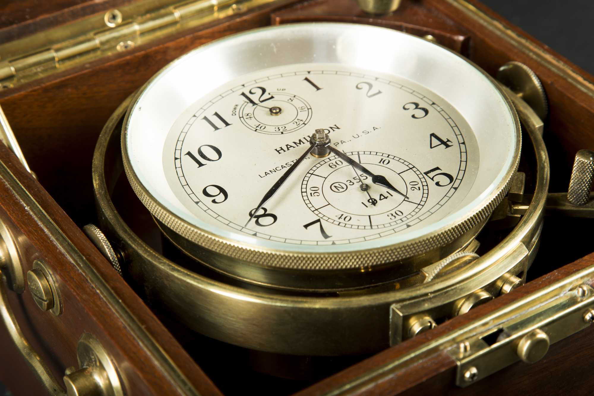 Wwii 1941 Us Navy Hamilton Marine Chronometer