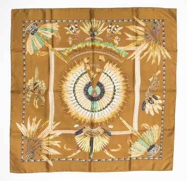 """Hermes Scarf, """"Brazil"""", designed by Laurence Bourthoumleux, 1988"""
