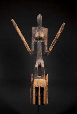 A Superb Dogon Satimbe mask--Ex. Kamer