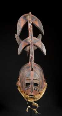 A fine Bobo mask with elaborate superstructure