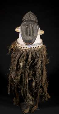 A rare and unusual Burkinabe helmet mask