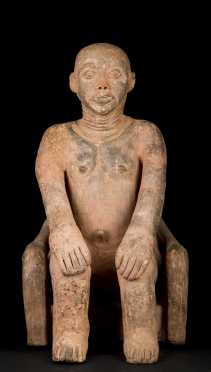 A Fine and important Akan Terracotta mortuary figure--Published