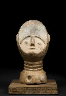 A Fine Akan ceramic Memorial head