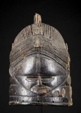 A fine and Old Mende helmet mask
