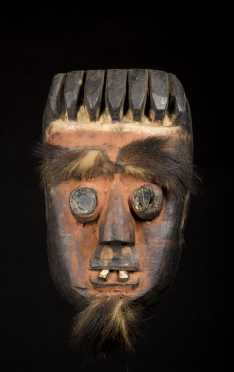 A fine and powerfully carved Grebo mask