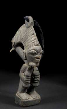 A fine Eshu figure, carved by Bamgboye or his workshop