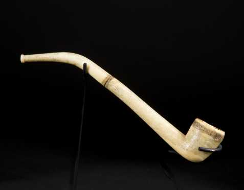 A fine Inuit two-part smoking pipe